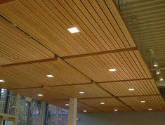 basement wood ceiling ideas. Unique Wood Lovely Basement Ceiling Ideas Wood Panel With Square Downlights  Awesome Finishing Basement Ceiling On N