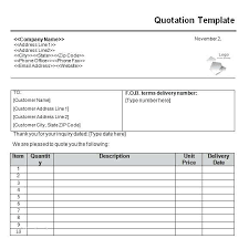 Quotation Template Download Free Kitchen Quotation Template Novadev Co