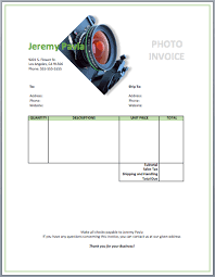Invoice Template For Photographers Photography Invoice Template Free Invoice Templates
