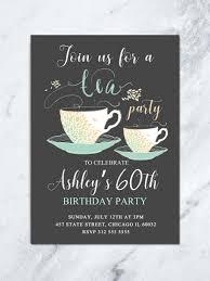 Tea Invitations Printable Tea Party Birthday Invitation Adult Birthday Invite Printable