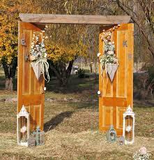 repurposed doors vintage wedding arch