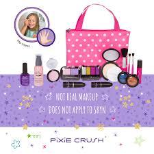 pixiecrush pretend play makeup kit designer s polka dot deluxe bag set walmart
