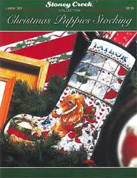 Cross Stitch Stocking Patterns Mesmerizing Christmas Puppies Stocking LFT48 Pattern