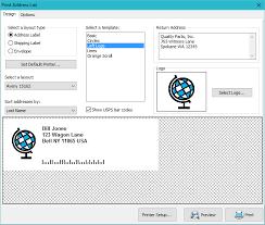 Print Address Labels Address Label Envelope Software Mail Label Designer