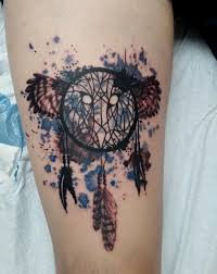 Dream Catchers Colorado Springs Trash Polka Owl Dream Catcher by ghpthree Art Gallery Tattoos 6