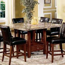 round marble top dining table unique counter height dining table set new room bar with bench