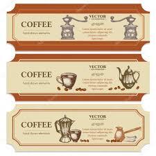 Label Design Templates Coffee Label Design Templates Stock Vector Intueri 124696056