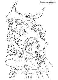 Digimon Coloring Pages And And Coloring Page Coloring Page Manga