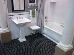 brilliant 0 bathroom with hexagon tiles on black hexagonal tile floor bathrooms floors white vinyl flooring