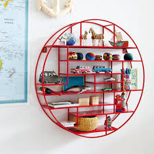 view in gallery round red wall shelf from the land of nod