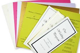 Trifold Wedding Programs Lci Paper