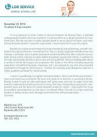 Dental Letter Of Recommendation Letter Of Recommendation Samples Dental Graduate School More