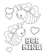 Valentine Color Pages Printable - Cecilymae