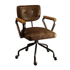 Office chair vintage Steel Image Unavailable Amazoncom Amazoncom Acme Furniture Acme 92410 Hallie Top Grain Leather
