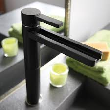 BLACK MAT HIGH END BATHROOM FAUCET