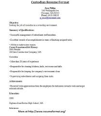 school custodian resume sample property custodian resume sample ...