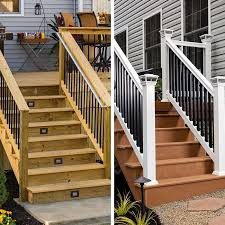 deck trex decking wood deck boards home porch remodel solid wood deck with led