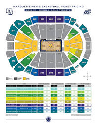 Seating Chart Fiserv Forum Marquette