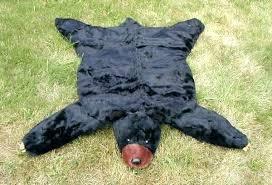 fake animal rug black bear skin faux fur plush felt rugs hedgehogs badgers and foxes oh new fake bear skin rug for