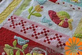 Piece N Quilt: Raw Edge Applique Quilt & Thanks for letting me custom machine quilt your adorable quilt Cheryl! Adamdwight.com
