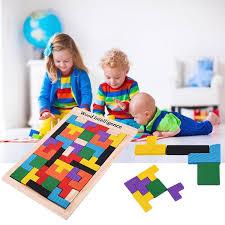 kids wooden tangram brain teaser puzzles preschool intellectual development toy