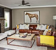 leather sectional living room furniture. Fine Sectional A Suburban Oasis Transitionallivingroom Intended Leather Sectional Living Room Furniture E