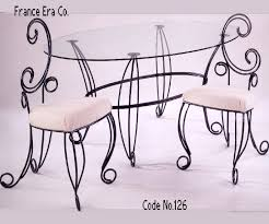 wrought iron furniture indoor. Exellent Iron Wrought Iron Furniture Indoor Contemporary Dining Set Table Intended For 19   Inside S