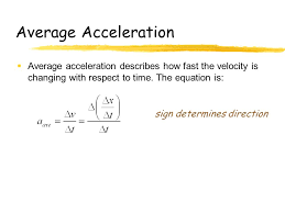 3 average acceleration