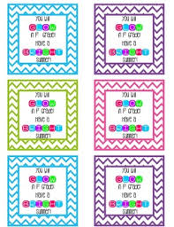 Summer Gift Tags Glow Stick Summer Gift Tags