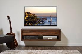 Floating TV Stand Eco Geo Mocha by WoodwavesInc on Etsy