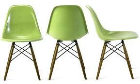 fiberglass shell chairs.