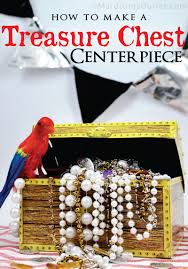 Treasure Chest Decorations Party Ideas By Mardi Gras Outlet Pirate Treasure Chest Centerpiece