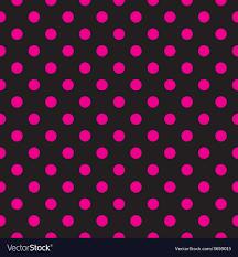 Cool Pink And Black Background Tile Pink Polka Dots On Black Background Vector Image