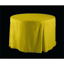 what size tablecloth for 48 inch round table inch round fitted tablecloth yellow polyester inch round