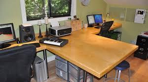 Dual desks home office Double Lifehacker The Dual Desk Office