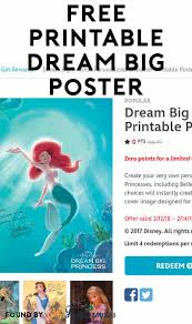 poster samples free dream big princess personalized character printable poster yo