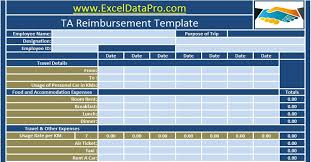 Download Employee Ta Reimbursement Excel Template Exceldatapro