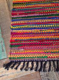 fab multi coloured shabby chic braided cotton jute rag rug for colorful bath rug