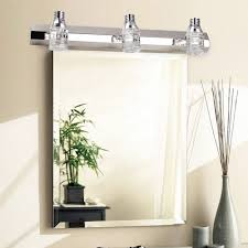 Bathroom Lighting Placement Bathroom Vanity Light Fixtures Over Mirror Modern Crystal Mirror