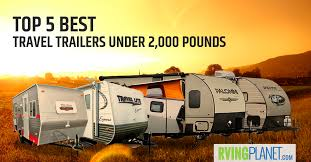 travel trailers under 2 000 lbs