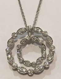 platinum tiffany co diamond pendant necklace set wreath vs clarity length 16
