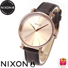 nixon nixon kensington leather kensington leather watch lady s rose gold artefact na1083147 00