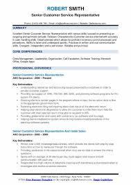 Senior Customer Service Representative Resume Samples