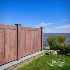 vinyl fencing. Simple Fencing Gorgeous Illusions Walnut PVC Vinyl Fence In Fencing O
