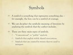 symbolism ppt  2 symbols