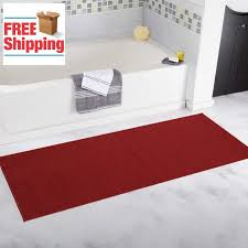 details about ottohome carpet aisle solid hallway kitchen runner rug 20 x 59 red non slip