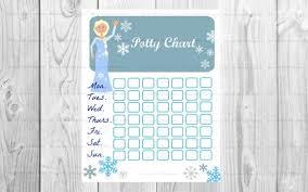 Elsa Potty Training Chart Potty Training Elsa Printable Frozen Reward System Childrens Motivation Sticker Reward Potty Training Chart Blue Ice Princess