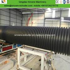 china large diameter hdpe drainage corrugated pipe ion extrusion line china hdpe pipe making machine sewage pipe ion line