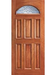 mahogany fan lite front single door with insulated beveled glass 34