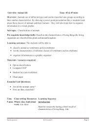 Classification Of Animals Worksheets Morningknits Com